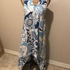 Euc Island Company high low linen dress